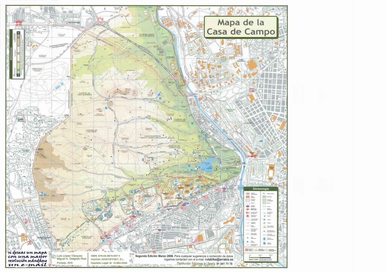 Contenido - Mapa De La Casa De Campo - Mimasku.com