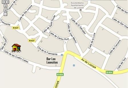 Detras del bar restaurante los leoncitos - Mapa de la casa de campo ...
